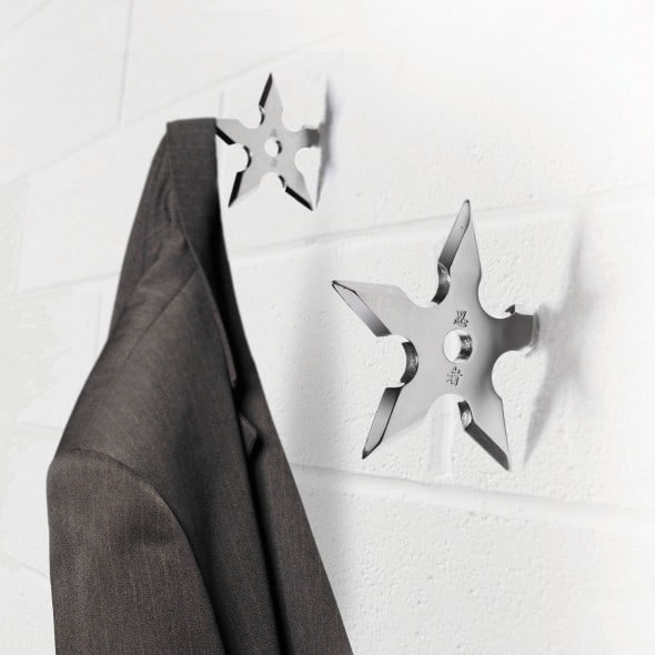 Ninja 101, when broke a shuriken can double as a fancy coat hook.