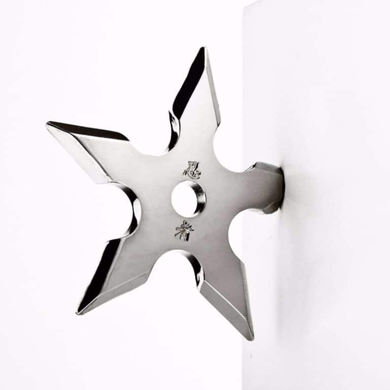 Ninja Coat Hook Novelty Shiny Throwing Star Fixture