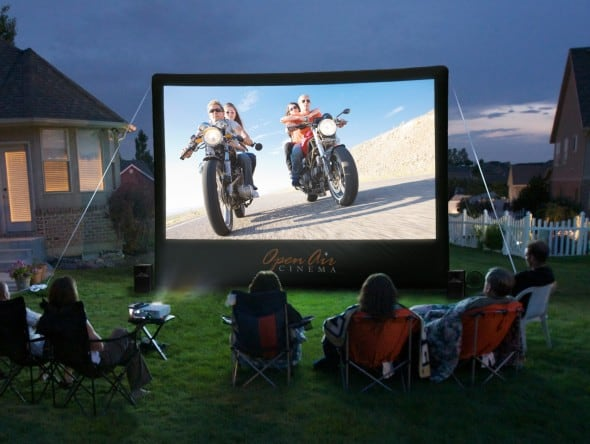 Want a giant inflatable TV in you backyard?