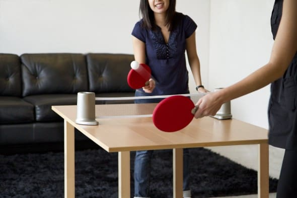 Pongo Portable Table Tennis Set Fun Dorm Room Games