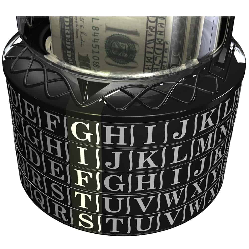Puzzle Pod Cryptex Coin Bank Dial Details Gifts