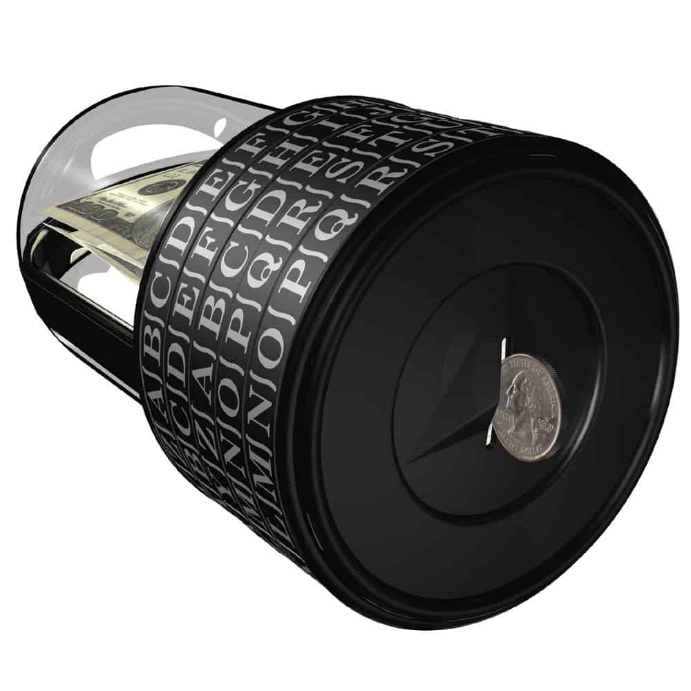 Puzzle Pod Cryptex Coin Bank Insert Coin