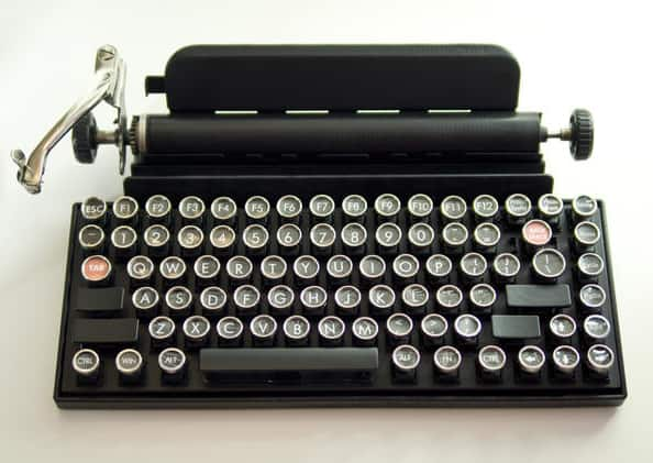Qwerkywriter Typewriter Antique Inspired USB Keyboard Cool Stuff to Buy