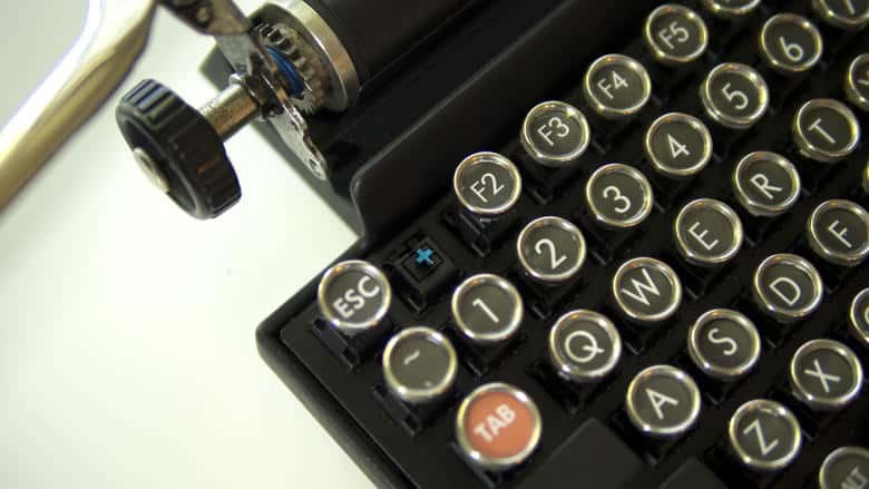 Qwerkywriter USB Keyboard Detail Picture Weird Invention