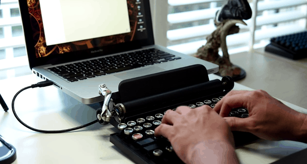 Qwerkywriter USB Keyboard Laptop Accessory Steamunk Inspired