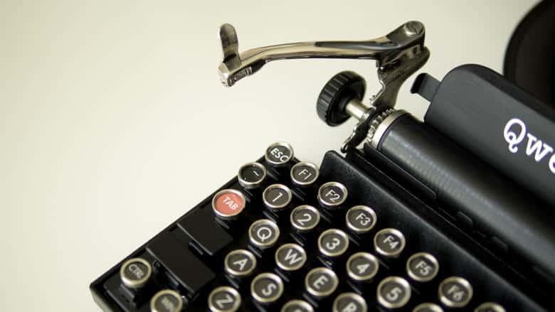 Qwerkywriter USB Keyboard Typewriter Retro Modification Detail