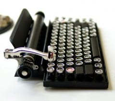 Cool typewriter inspired usb keyboard.
