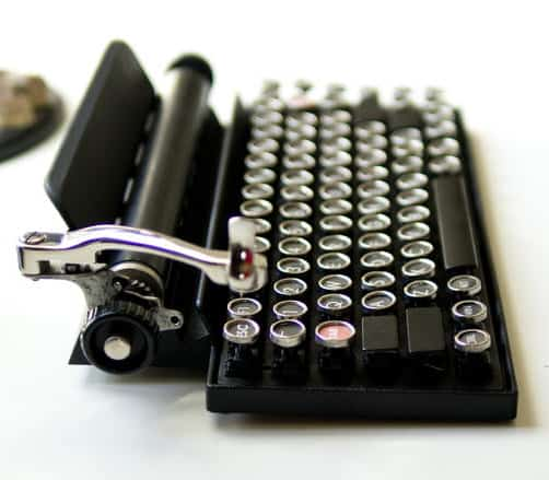 Qwerkywriter USB Keyboard Vintage Steampunk Customization