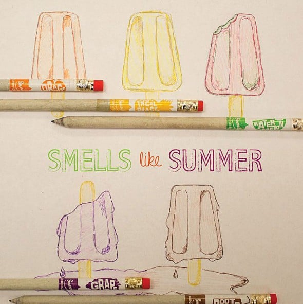 Smencils-Gourmet-Scented-Pencils Ice Cream Drawing