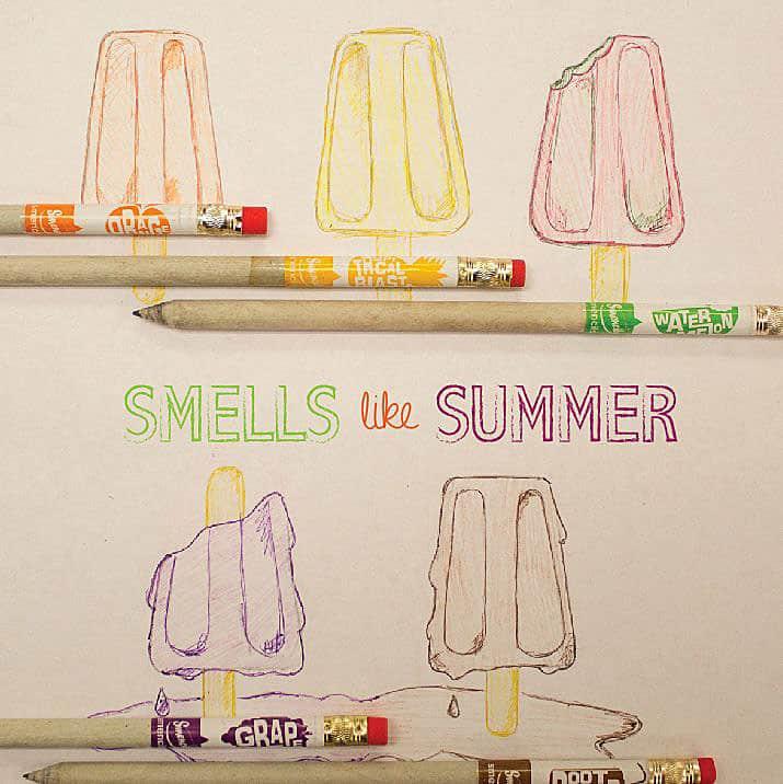Smencils-Gourmet-Scented-Pencils Ice Cream Drawing