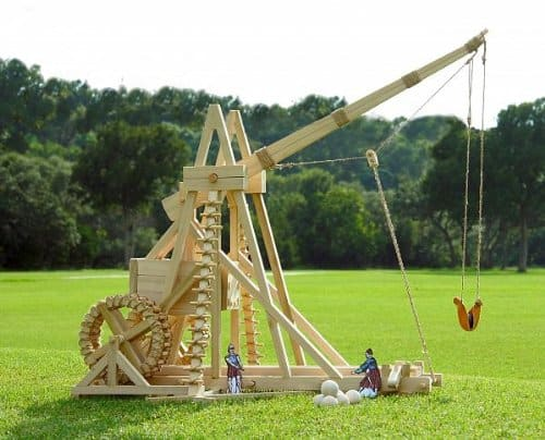 Stirling Warwolf Trebuchet Medieval Toy Figurine Wooden Kit