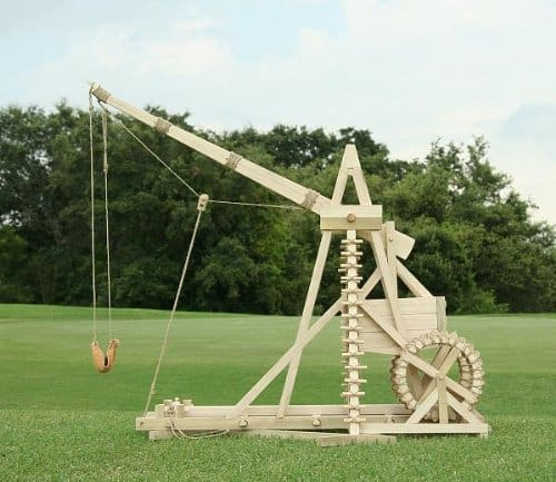 Stirling Warwolf Trebuchet Old War Toy Wooden DIY Kit Replica
