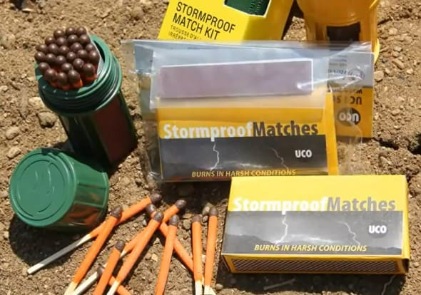 Stormproof Match Kit with Waterproof Case Bug Out Bag Essential Emergency Fire