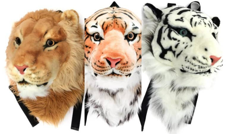 VIAHART Authentic Tigerdome Lion Animal Head BackpackCool Gifts for Kids