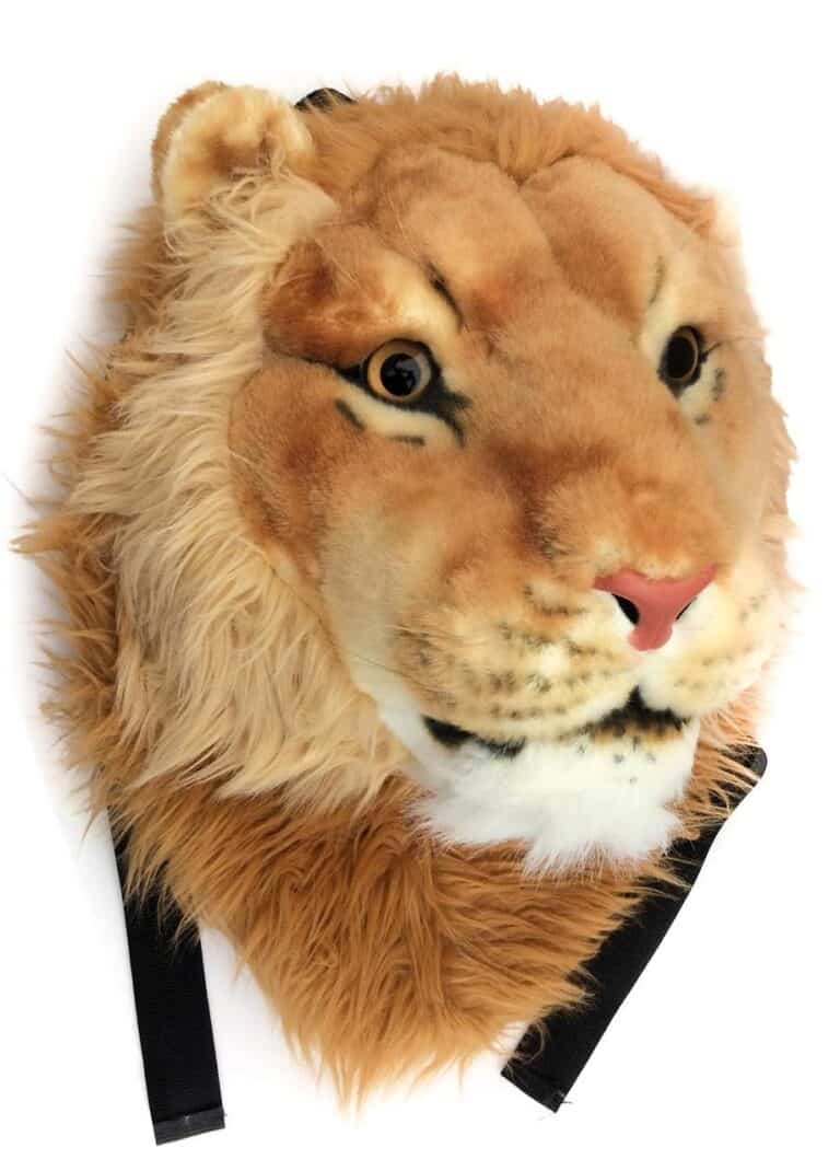 VIAHART Tigerdome Lion Animal Head Awesome Backpack