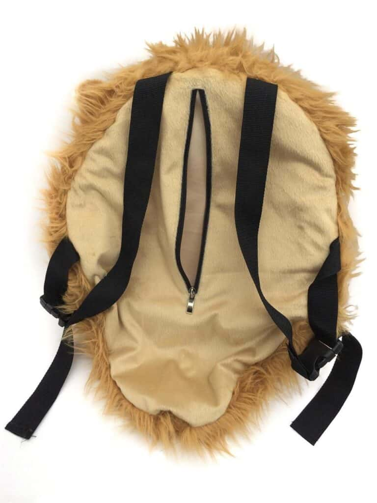 VIAHART Tigerdome Lion Animal Head Backpack Back Zipper