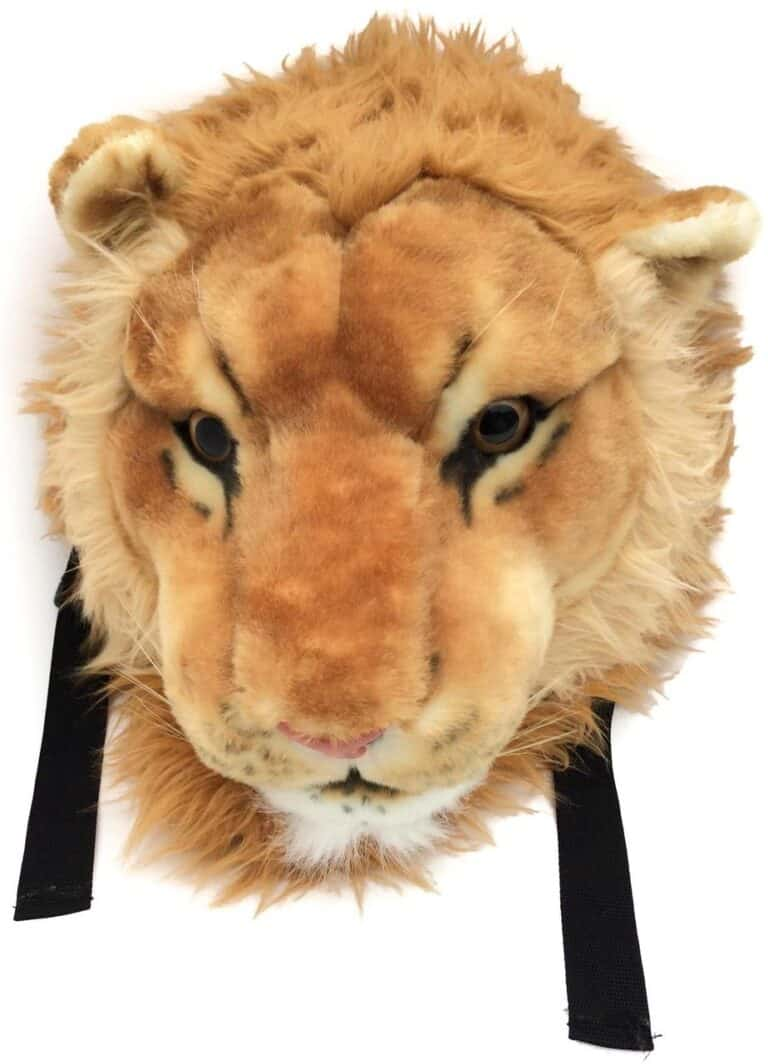 VIAHART Tigerdome Lion Animal Head Hip Backpack