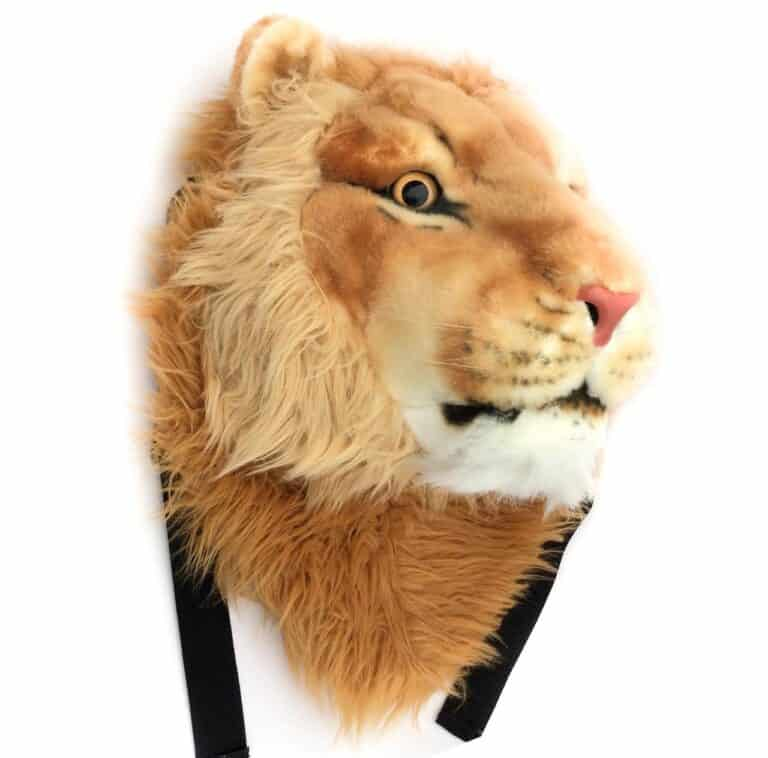VIAHART Tigerdome Lion Animal Head Kiddie Backpack