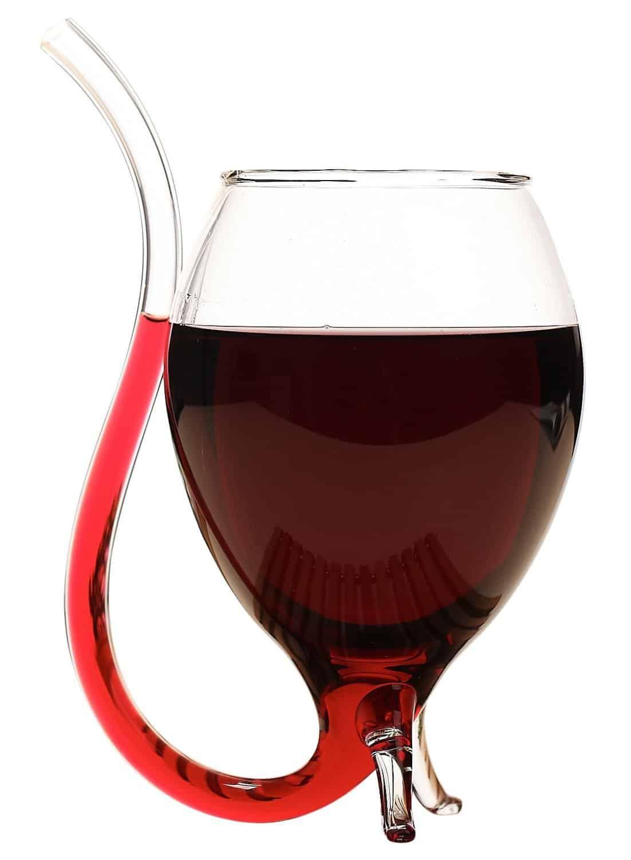 Vampire Wine Glass Red Liquid like Blood Glass Tail