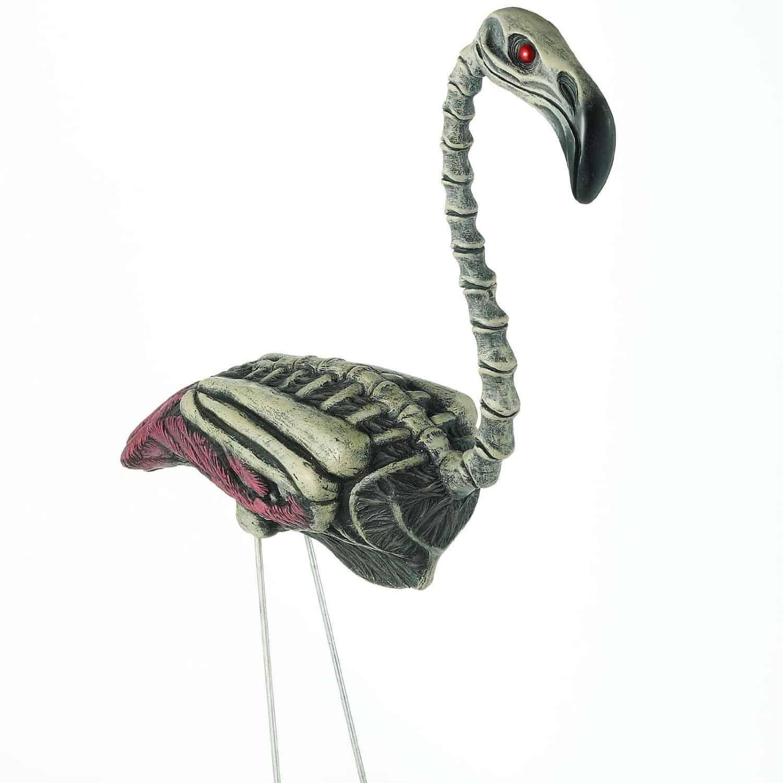 Zombi Flamingo Halloween Decoration Lawn Backyard Weird Stuff Undead Bird