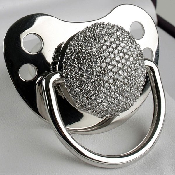 3ct Diamond Pacifier Made of White Gold