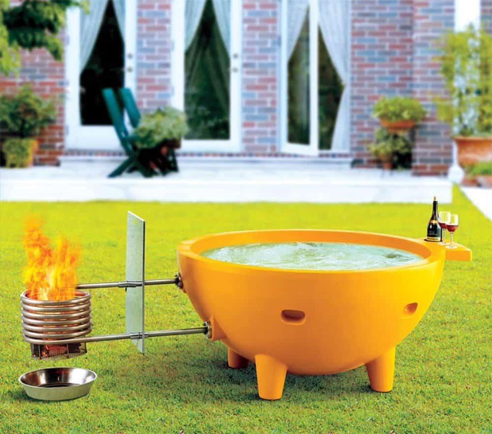 ALFI FireHotTub Modern Chic Design Appeal