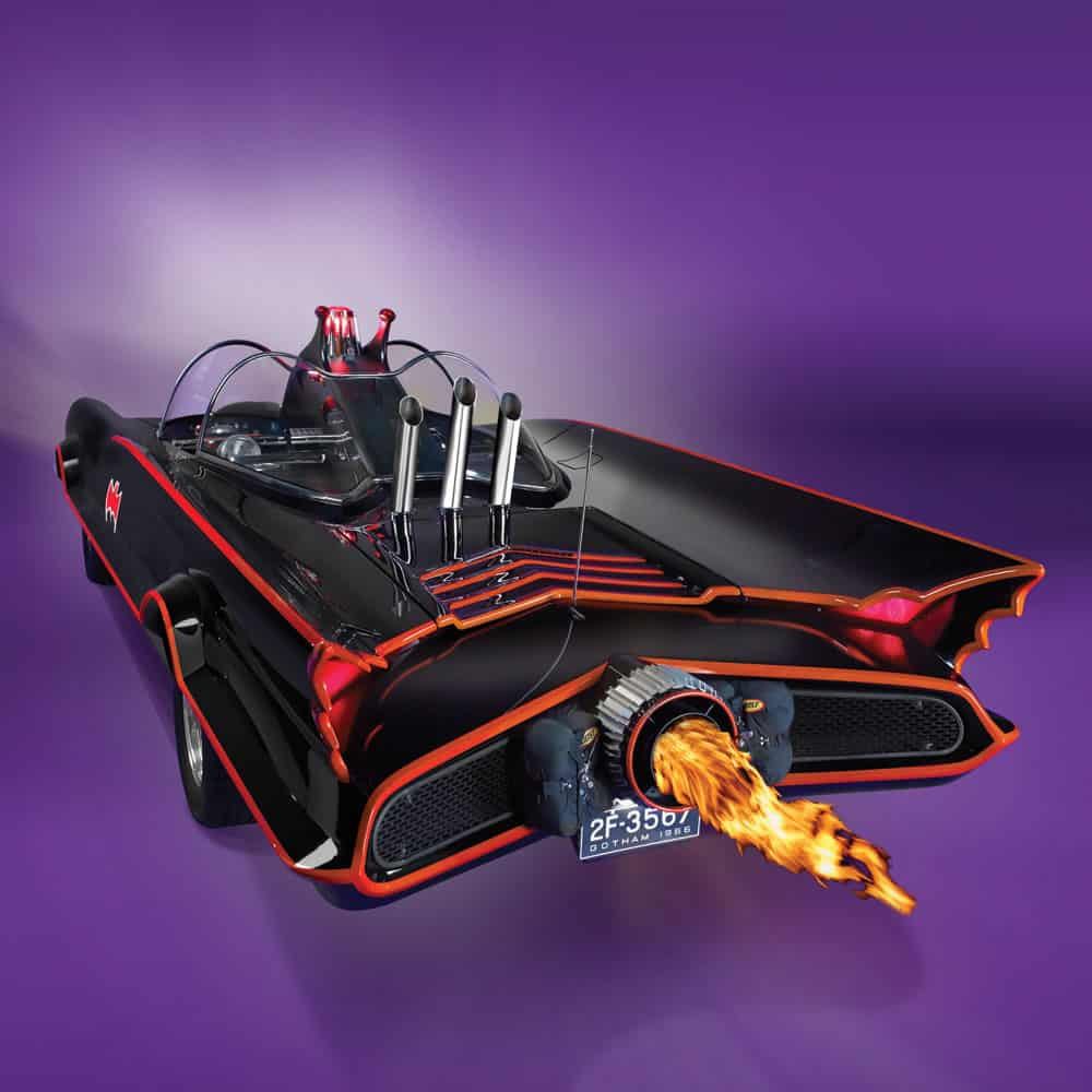 Authentic 1966 Batmobile Flame on Exhaust Rear Side View