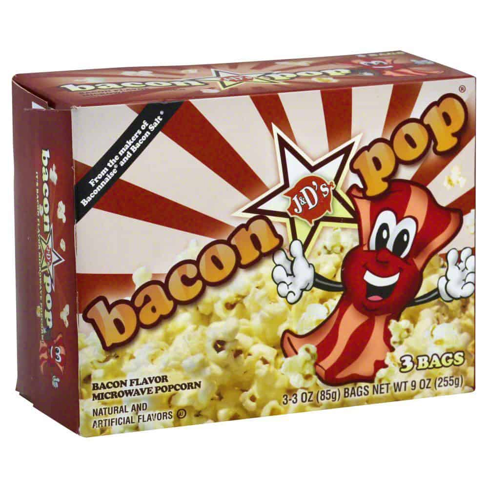 Bacon Flavored Microwaveable Popcorn Unique Snack