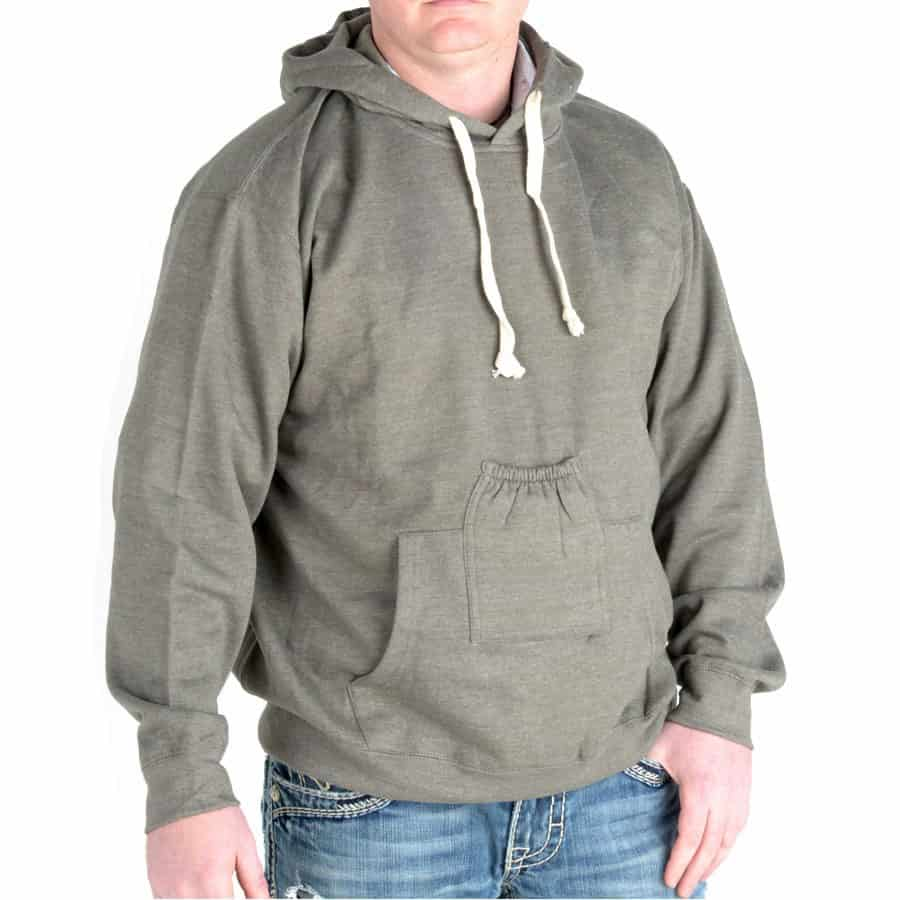Beer Pouch Hoodie Sweatshirt Grey Dad Gift Idea