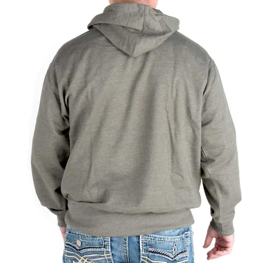 Beer Pouch Hoodie Sweatshirt Grey Rear