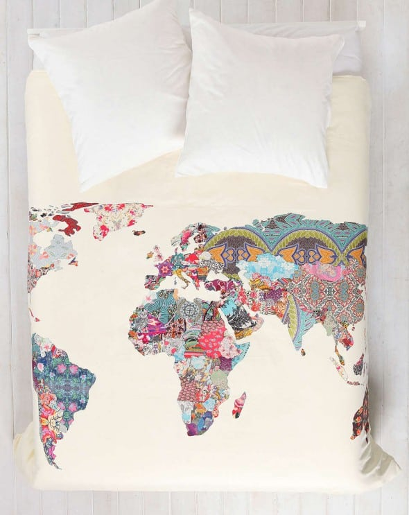 Bianca Green For DENY Louis Armstrong Told Us So Duvet Cover Map and Patterns Abstract Theme