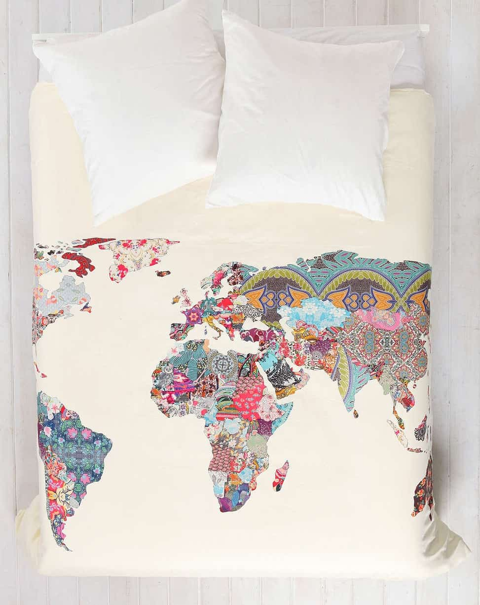 Cover your bed with the map of the abstract world.