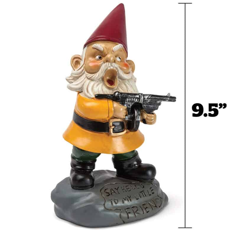 Bigmouth Angry Little Garden Gnome Funny Garden Junk to Buy