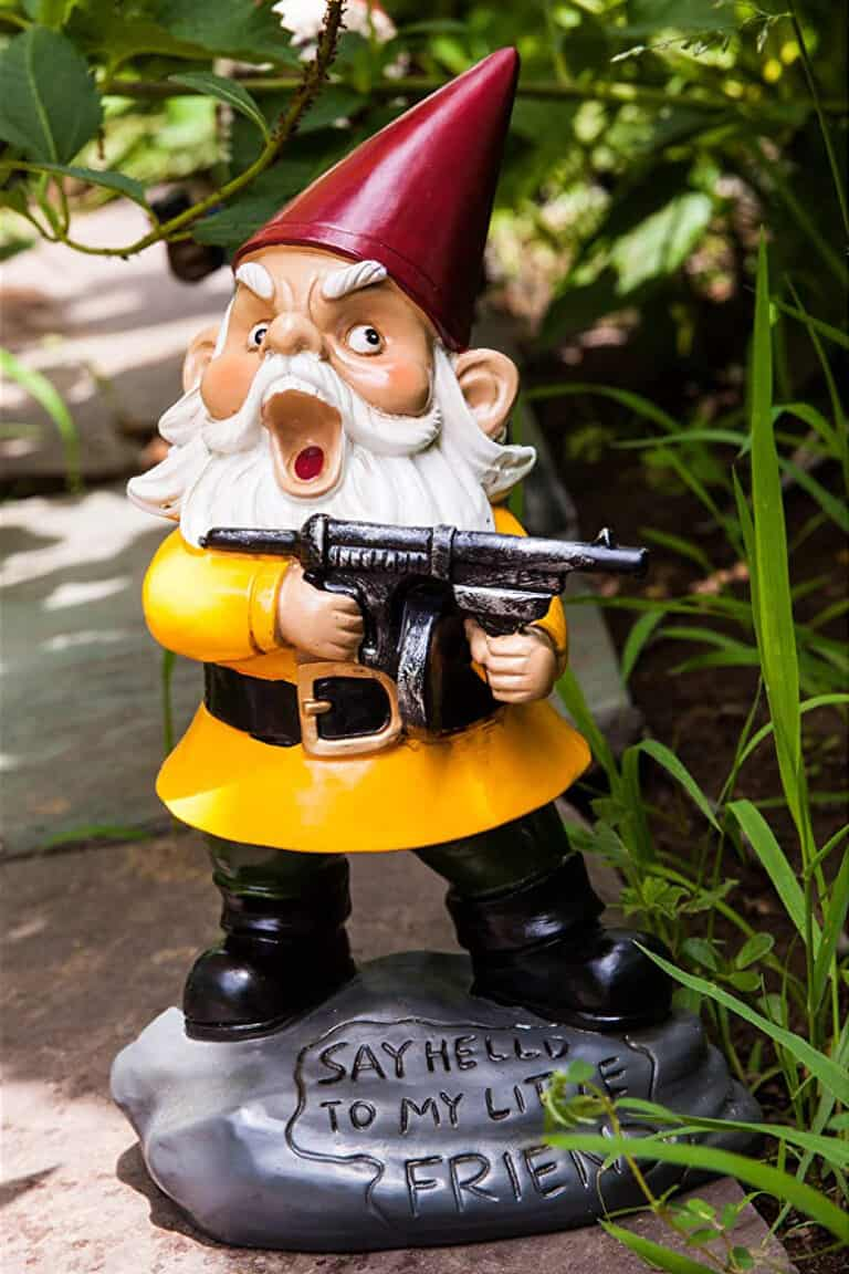 Bigmouth Angry Little Garden Gnome Protect your Garden