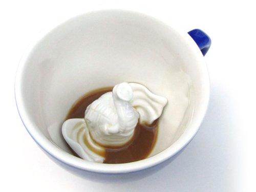 Creature Cups Ceramic Mug Little White Elephant Head