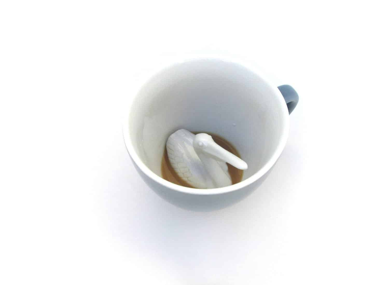 Creature Cups Ceramic Mug Pelican Looking Up