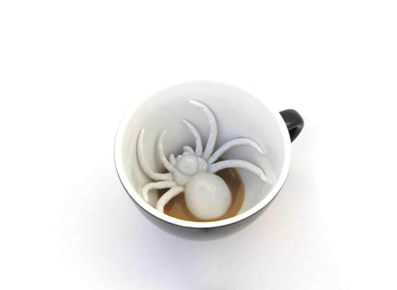 Creature Cups Ceramic Mug Spider on My Coffee