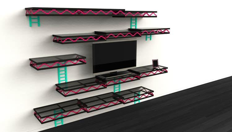 Donkey Kong Wall Custom Shelves