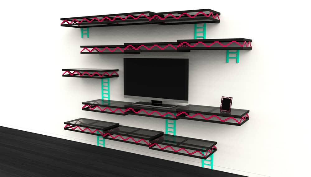 Donkey Kong Wall Retro Pixel Room Theme