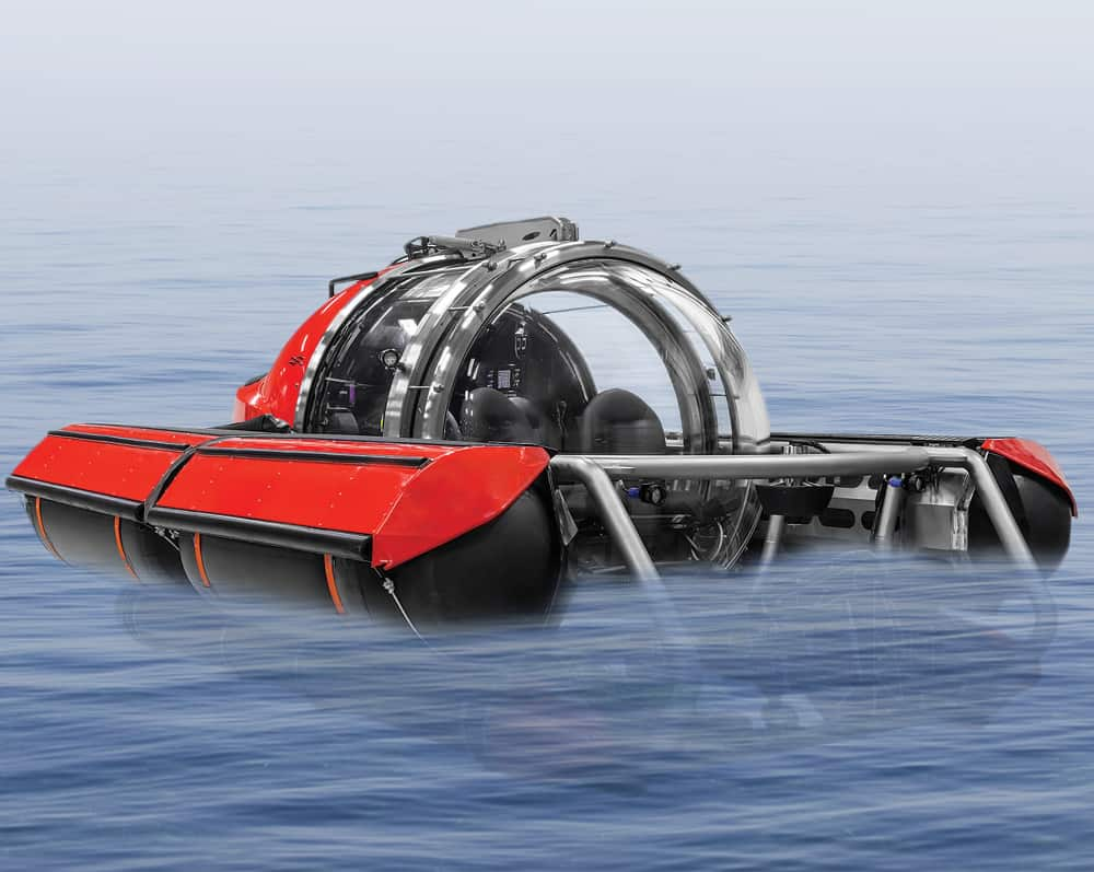 Five Person Red Exploration Submarine Finding Atlantis