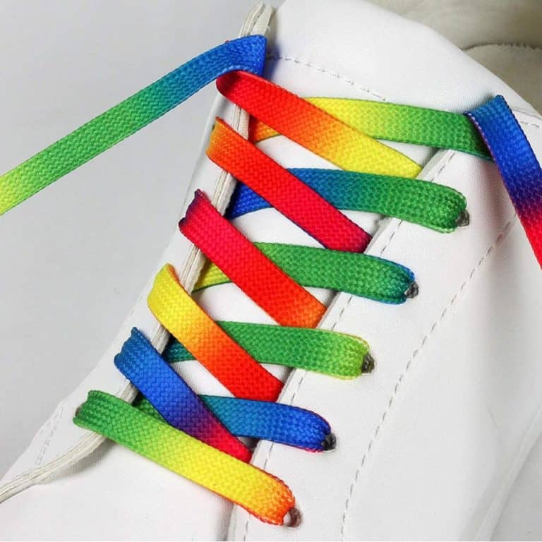 Flat Gradient Print Rainbow Shoe Laces Cool Shoe Accessory