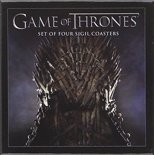 Game of Thrones House Sigil Coaster Set Iron Throne Box