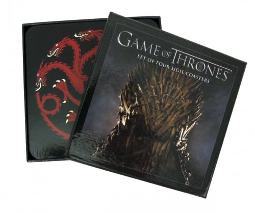 Game of Thrones House Sigil Coaster Set Show Memorabilia