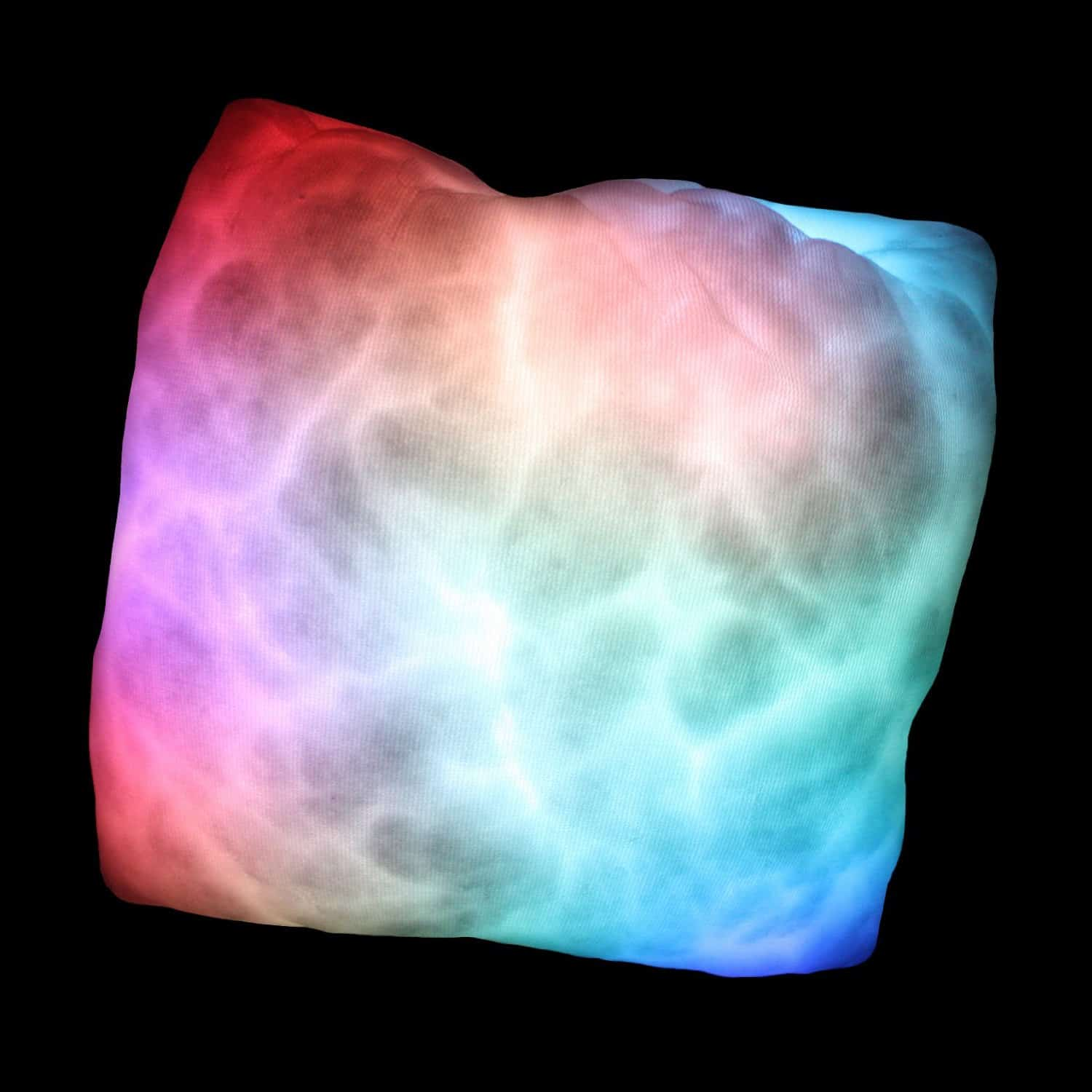 Glowing Moonlight Cushion Rainbow Colored Glow Pillow