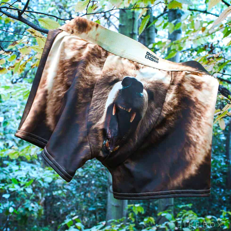 Grizzly Bear Underwear Displayed in the Wild Funny Gift Idea