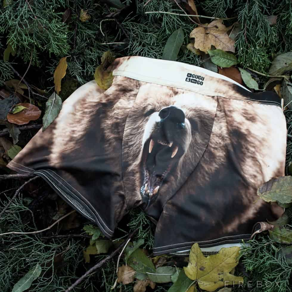 Grizzly Bear Underwear Worn and Left in the Wild Novelty Item
