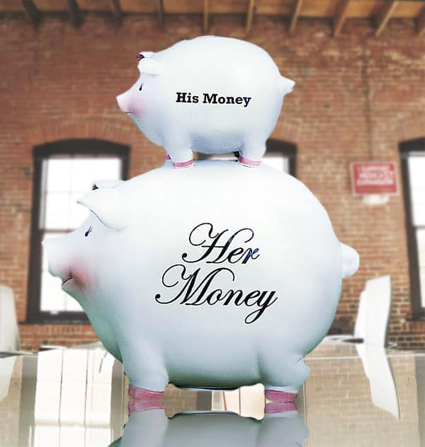 His Money Her Money Ceramic Piggy Bank Cute House Warming Gift Idea