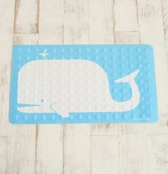 Step on the whale for a safer shower.