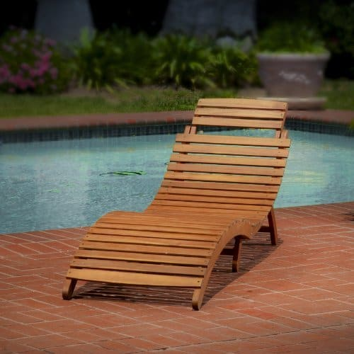 Lisbon Wood Outdoor Chaise Lounge Summer Furniture
