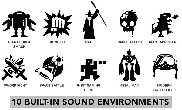 Mega Stomp Battle Audio Reality Effects Cool Geek Icons